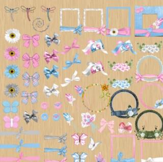 粉色蝴蝶結邊框圖片
