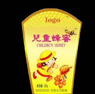 卡通兒童 蜂蜜標簽瓶貼圖片