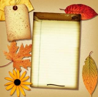 懷舊紙 牛皮紙 楓葉 紅葉 花朵圖片