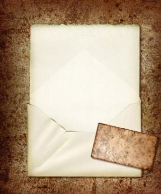 懷舊紙 信封 牛皮紙圖片