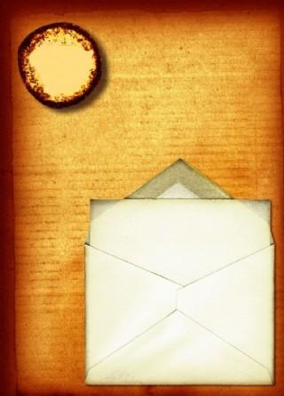 牛皮紙 信封 懷舊紙圖片
